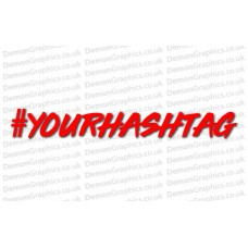 Your Hashtag Sticker (Pair)
