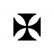 cross pattee Vinyl Sticker