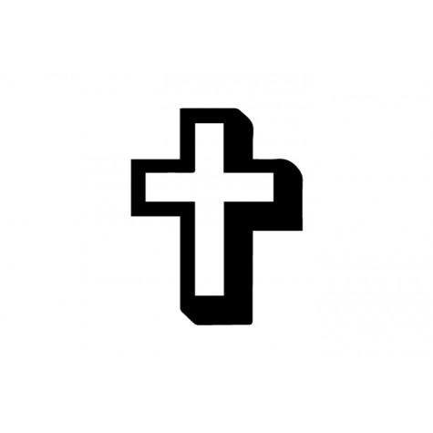 Cross Vinyl Sticker