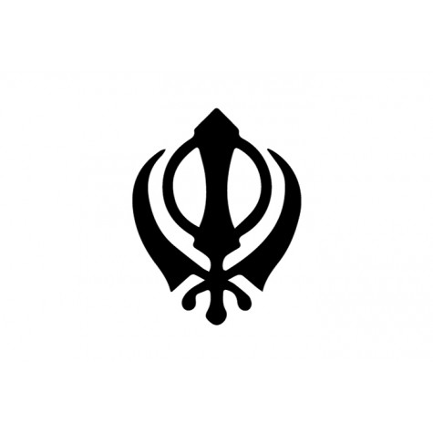 Khanda Vinyl Sticker
