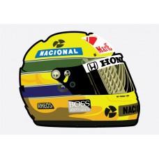 Senna Helmet F1 Sticker