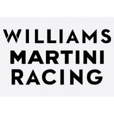 Williams Martini Racing  Formula 1 Sticker