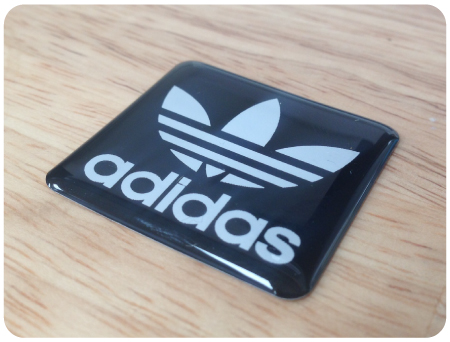 Adidas B/W Domed Retro Sticker