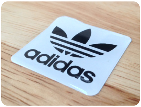 Adidas W/B Domed Retro Sticker