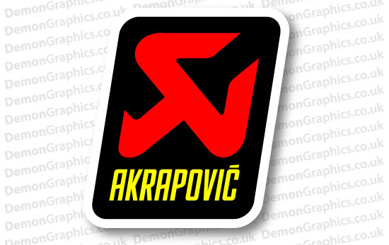 Bike Decal (Pair of) Akrapovic 2