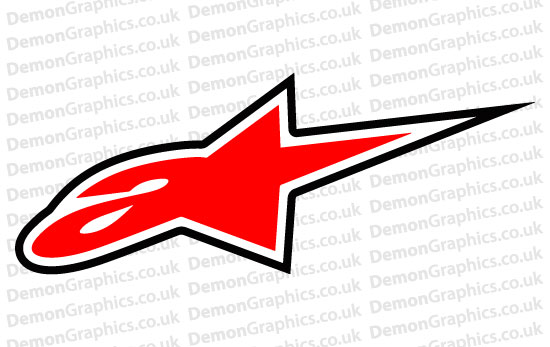 Bike Decal (Pair of) Alpinestars 3