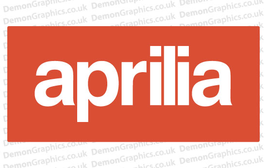 Bike Decal (Pair of) Aprilia 1