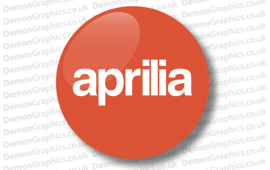 Aprilia Domed Tank decal 2""