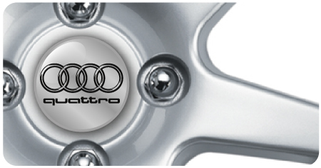 Wheel Centre Badges - Audi Quattro (set of 4)