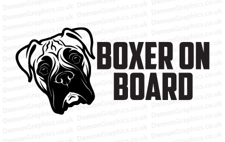 Boxer On Board Sticker