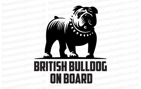 British Bulldog On Board Sticker