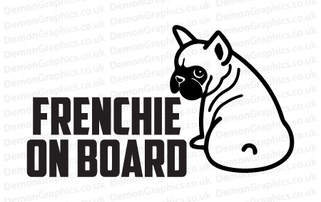 French Bulldog On Board Sticker 1