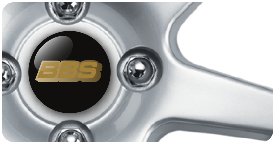 Wheel Centre Badges - BBS Gold (set of 4)