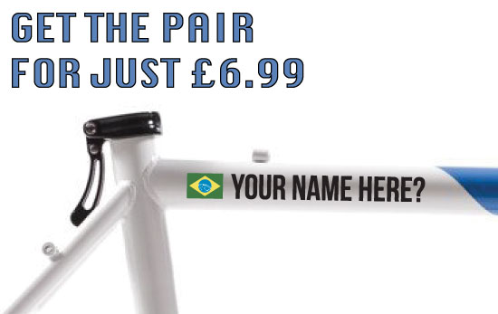 Brazil Cycling Tag £6.99 for both sides