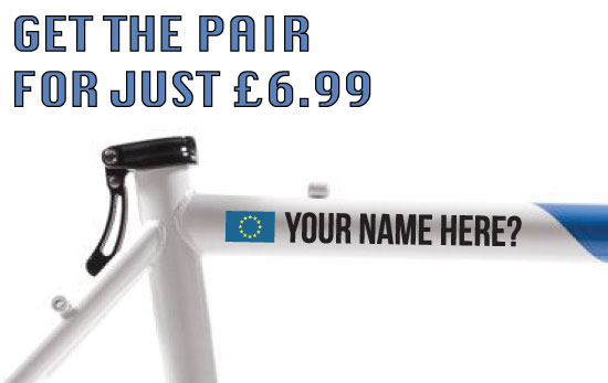 EU Cycling Tag £6.99 for both sides