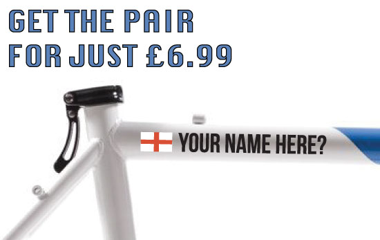England Cycling Tag £6.99 for both sides