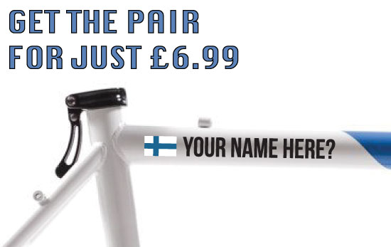 Finland Cycling Tag £6.99 for both sides