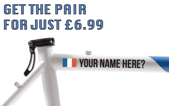 France Cycling Tag £6.99 for both sides