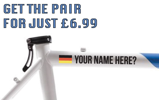 Germany Cycling Tag £6.99 for both sides