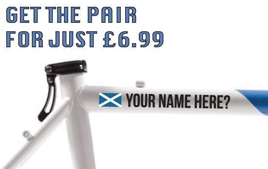 Scotland Cycling Tag £6.99 for both sides