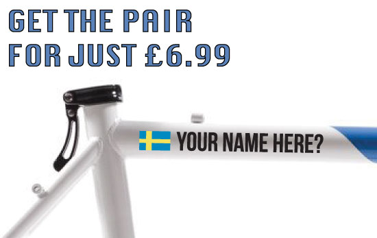 Sweden Cycling Tag £6.99 for both sides