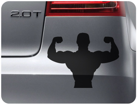Body Builder Sticker