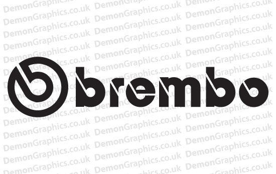 Bike Decal (Pair of) Brembo