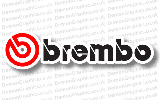 Bike Decal (Pair of) Brembo Colour