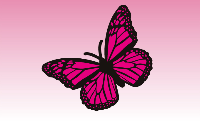 Butterfly 2 Girly Sticker