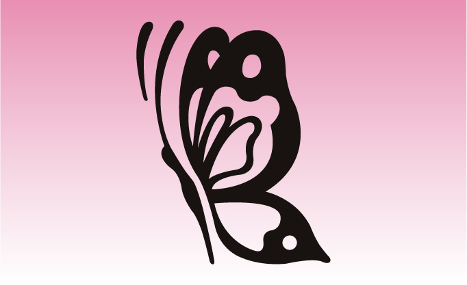 Butterfly 4 Girly Sticker
