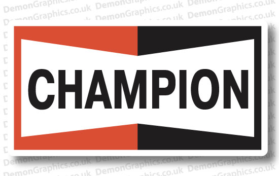 Bike Decal (Pair of) Champion