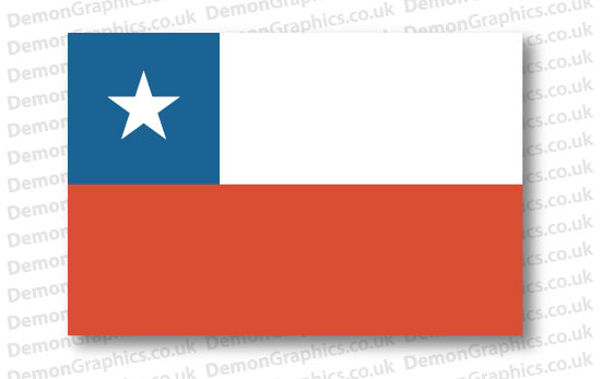Chile Flag (Pair)