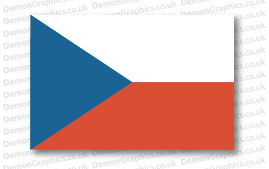 Czech Republic Flag (Pair)