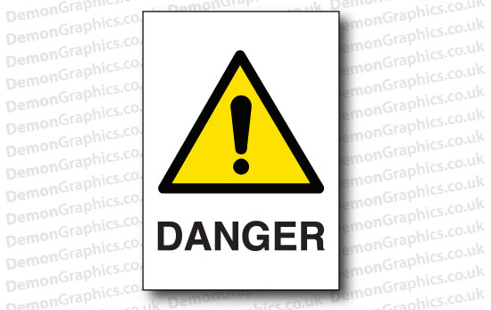 Danger Sticker or Sign