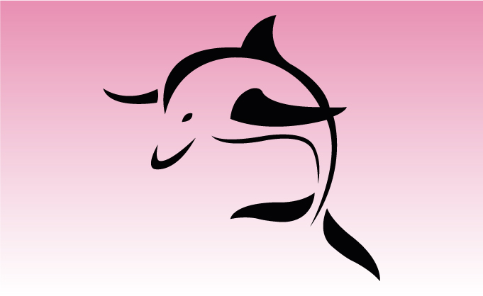 Dolphin 3 Girly Sticker