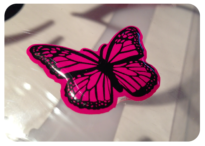 Butterfly Domed Girly Badge