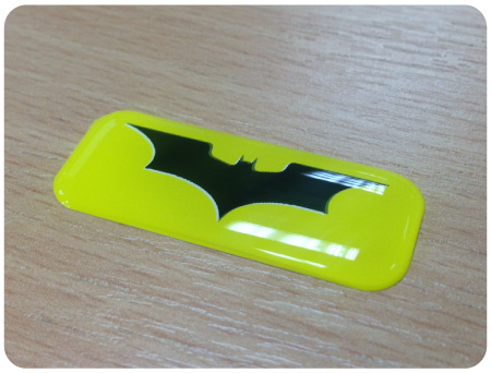 Batman Domed Badge 2