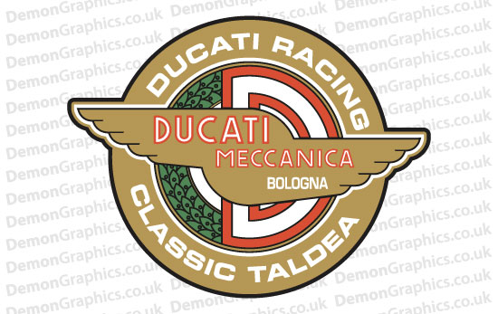Bike Decal (Pair of) Ducati 17