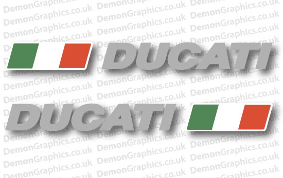 Bike Decal (Pair of) Ducati 25