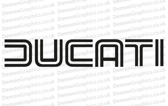Bike Decal (Pair of) Ducati 2