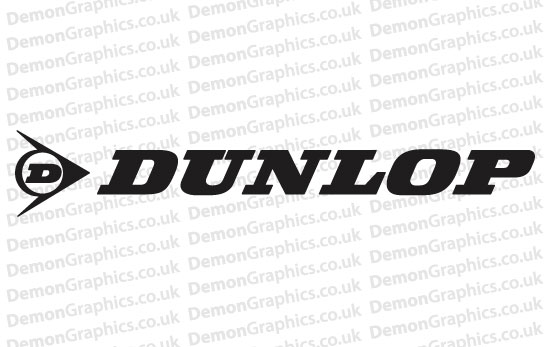 Bike Decal (Pair of) Dunlop 1