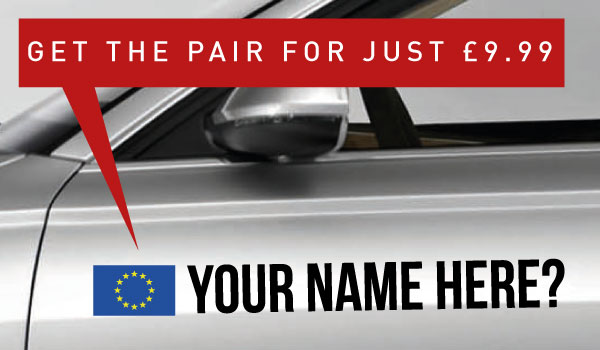 EU Rally Tag £9.99 for both sides