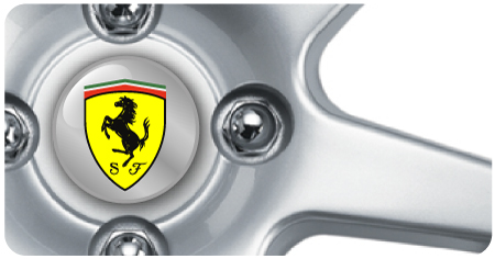 Wheel Centre Badges - Ferrari (set of 4)