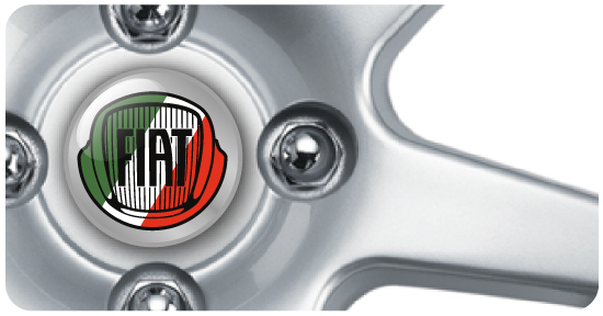 Wheel Centre Badges - Fiat 1 (set of 4)