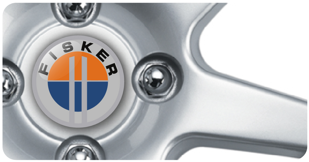Wheel Centre Badges - Fisker (set of 4)