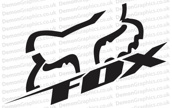 Bike Decal Pair Of Fox Bike Decal Pair Of Fox - Bike graphics stickers images