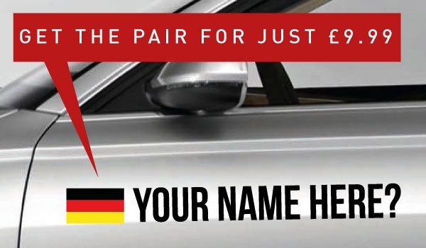 Germany Rally Tag £9.99 for both sides
