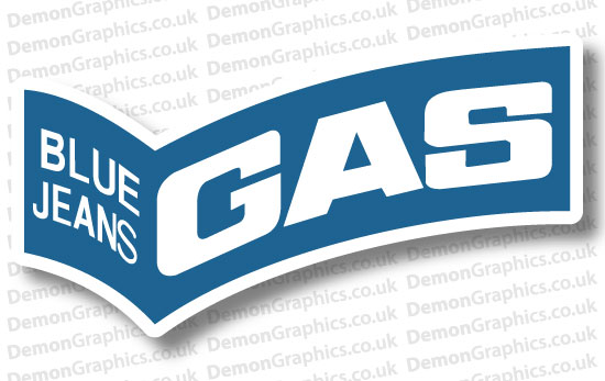Bike Decal (Pair of) Gas Jeans