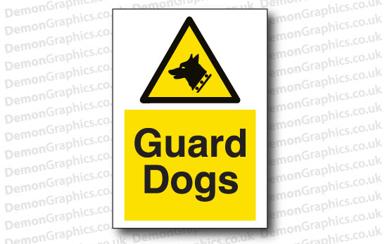 Guard Dogs Sticker or Sign