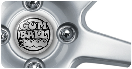 Wheel Centre Badges - Gum Ball 3000 (set of 4)